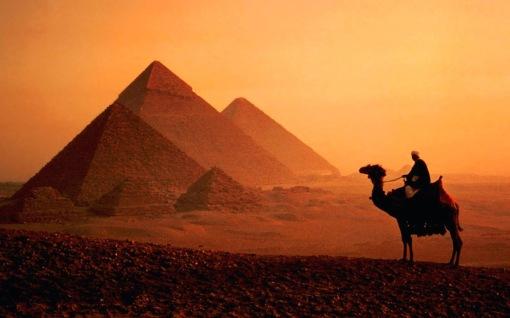 dusk__camel__pyramids__cairo_-_egypt
